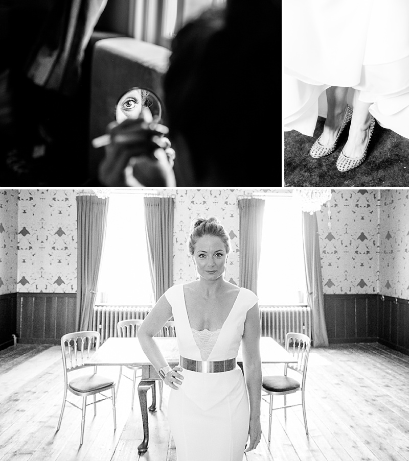 Marquee Wedding In East Sussex, Bride In Self-Designed