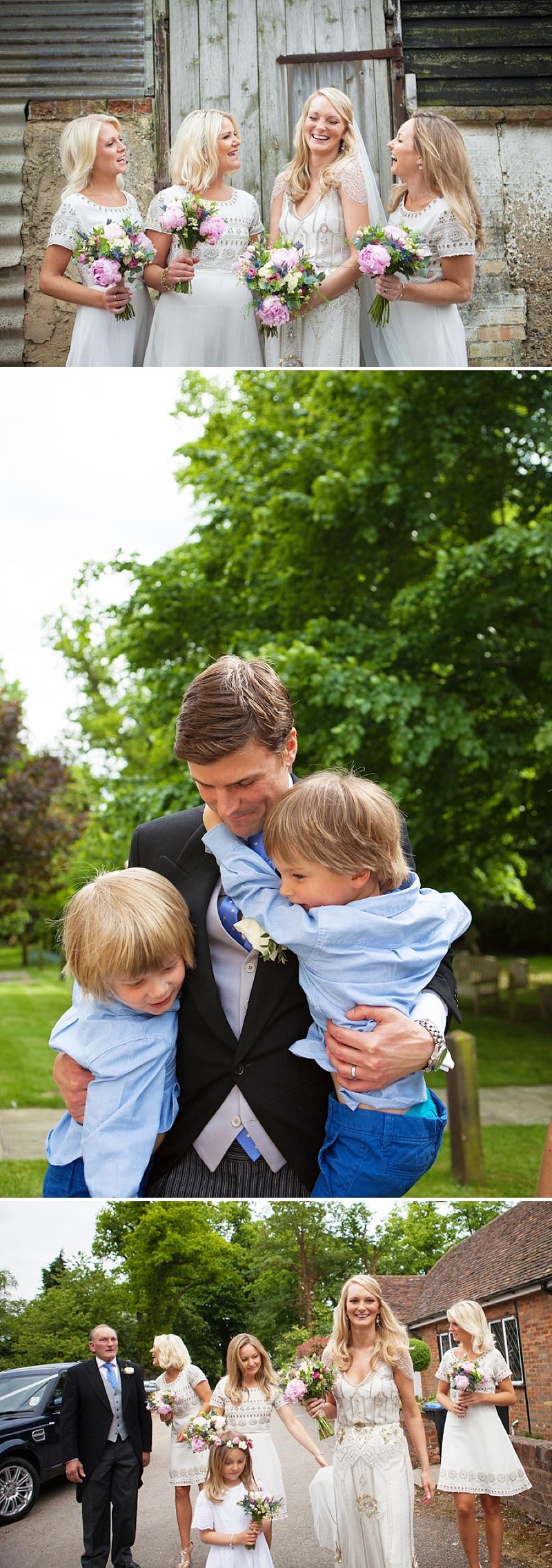 Summer Garden Party Wedding In Hertfordshire, Bride In Jenny Packham Eden Gown, Images by Annamarie Stepney_0005