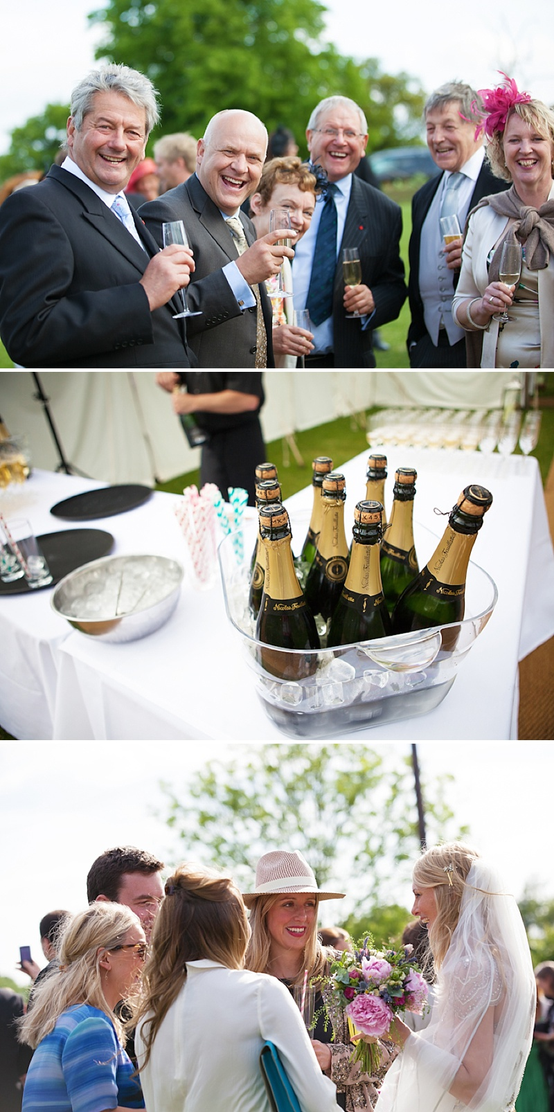 Summer Garden Party Wedding In Hertfordshire Bride In Jenny Packham Eden Gown Images by Annamarie Stepney 0011 Champagne In The Sunshine.