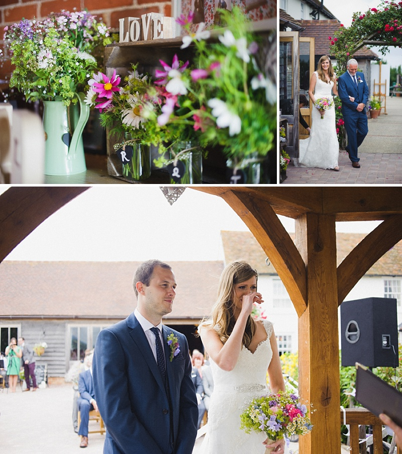 Vintage Inspired Barn Wedding At The Ferry House Inn Kent, Bride In Balta By Pronovias, Images By Hannah-May_0005