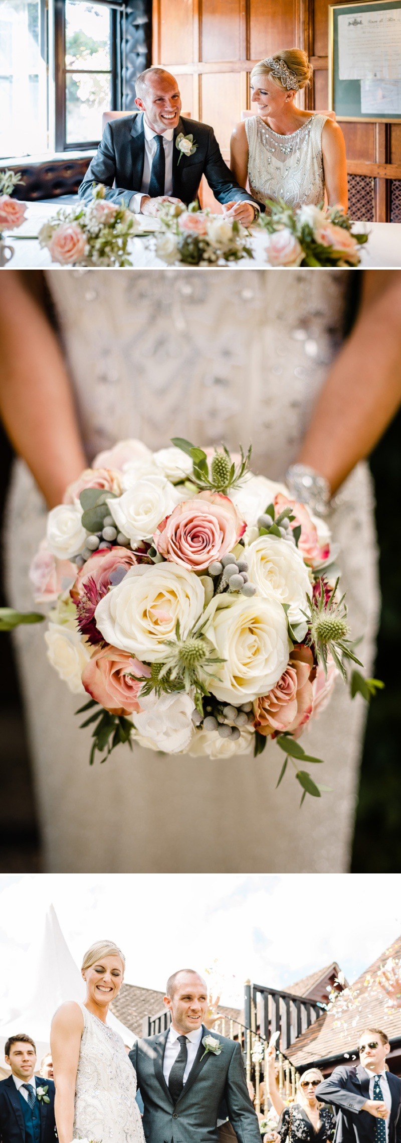 A Beautiful Music Inspired Wedding At The Crazy Bear In Stadhampton With A Jenny Packham Esme Wedding Dress and A Pink And Cream Avalanche Rose Bouquet._0006