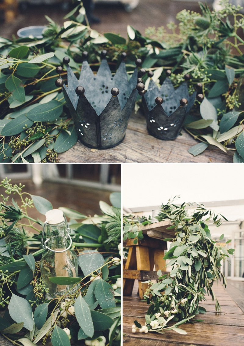 A Coastal Wedding Decor Inspiration Shoot From Rock My Wedding Featuring A Rustic Olive Leaf Table Centrepiece And A Luxury Sequinned Wedding Tablescape._0008