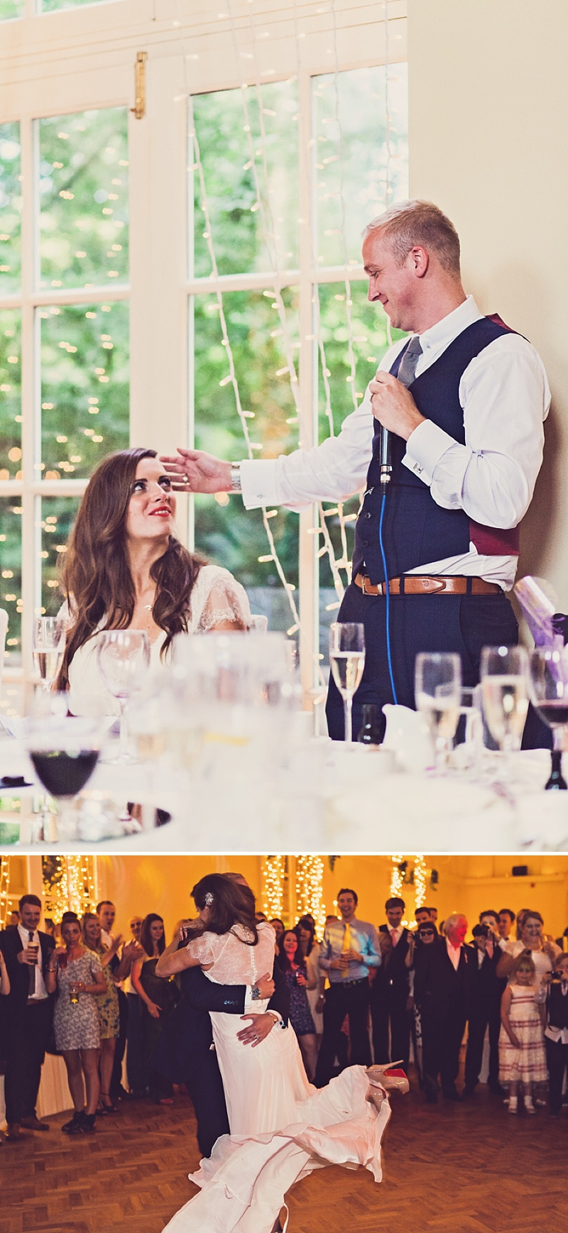 A Purple And Ivory Contemporary Wedding At Kilshane House In Tipperary Ireland With Bride In Aspen By Jenny Packham And Nude Christian Louboutin Peeptoes Images By Claire Penn_0016