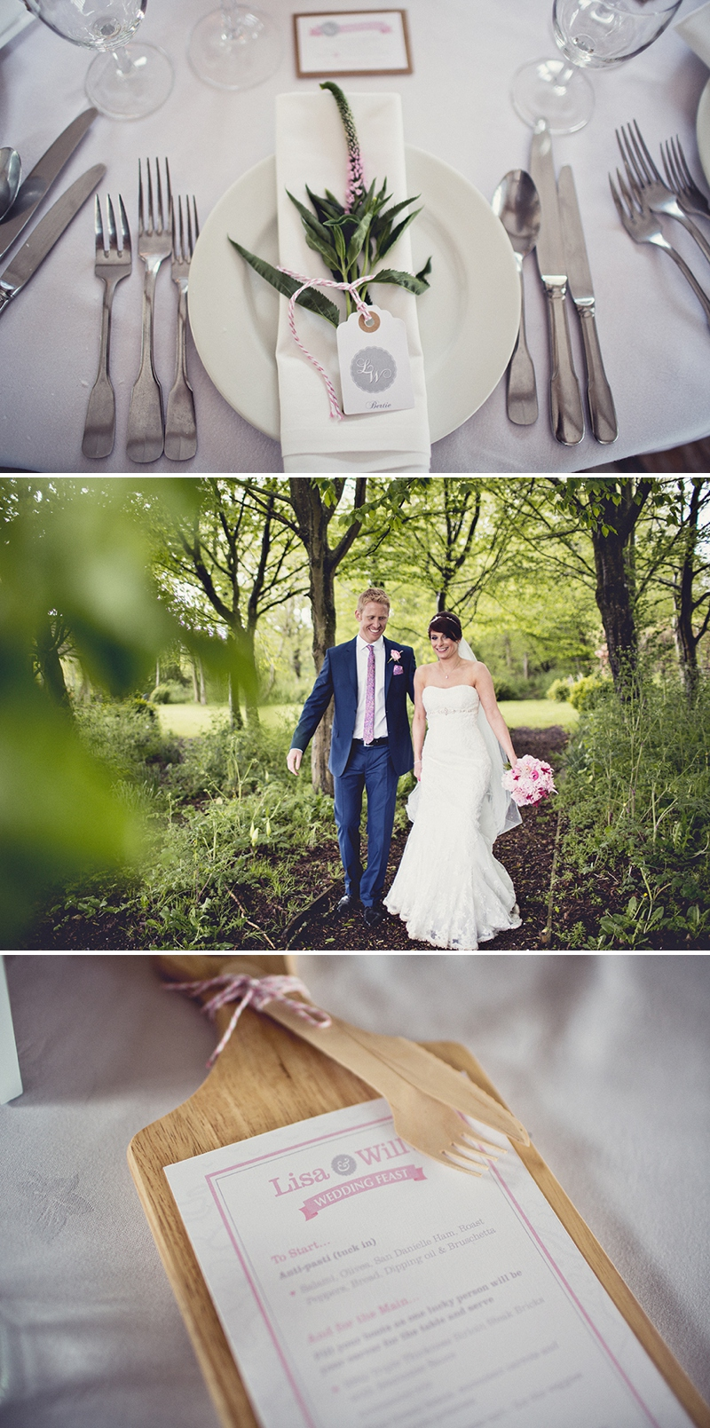 A beautiful cripps barn wedding reception with a pink and grey a pretty wedding at cripps barn by anna clarke photography with a lace pronovias dress0313 fandeluxe