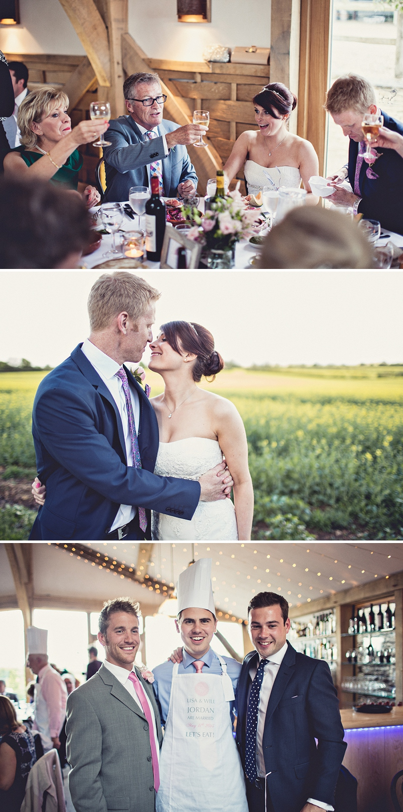 A beautiful cripps barn wedding reception with a pink and grey a pretty wedding at cripps barn by anna clarke photography with a lace pronovias dress0317 fandeluxe