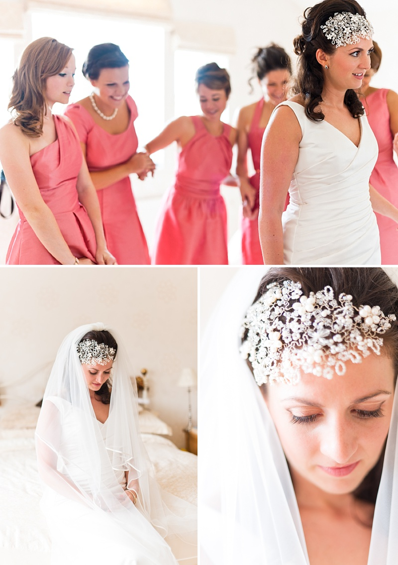 Elegant Wedding In Worcestershire With Vintage Touches Bride In Caroline Castigliano Gown with Rachel Simpson Shoes and a Hermione Harbutt Headpiece, Images by Anushe Low_0003