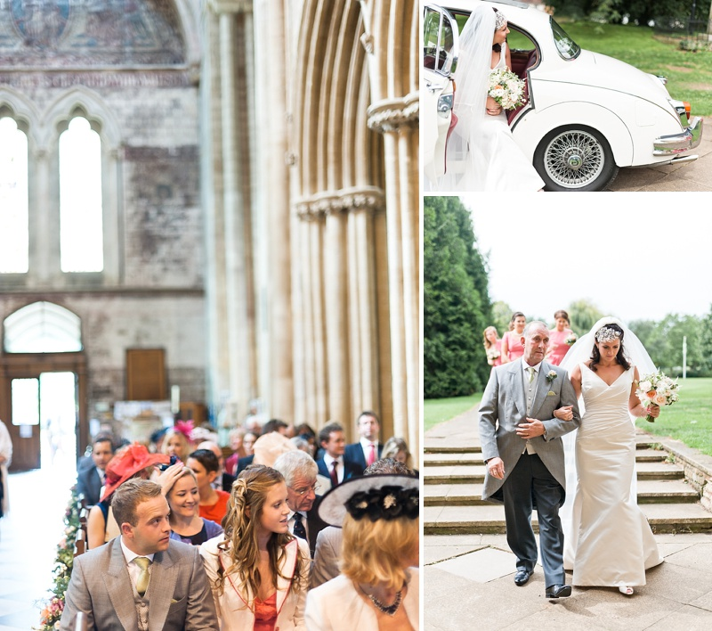 Elegant Wedding In Worcestershire With Vintage Touches Bride In Caroline Castigliano Gown with Rachel Simpson Shoes and a Hermione Harbutt Headpiece, Images by Anushe Low_006a