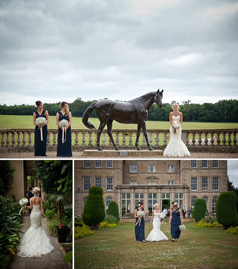 Glamorous Navy And Gold Themed Wedding At Prestwold Hall Leicestershire With Bride In Lace Fishtail Benjamin Roberts Gown, J Crew Statement Necklace And Gold Lance Jimmy Choos Photography By Matt Parry_0011