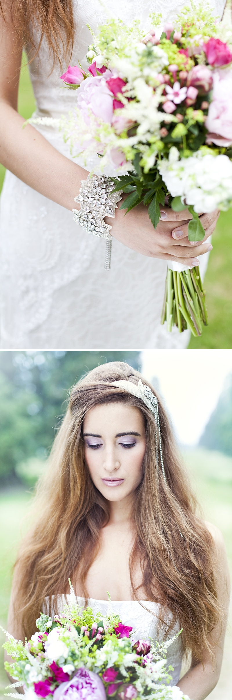 Inspiration Shoot Featuring Donna Crain Headpieces With A Bridal Make Up Product Recommendations From Adele Rosie Make Up Artist Images By Cecelina Photography 0002 Heavenly Headpieces.