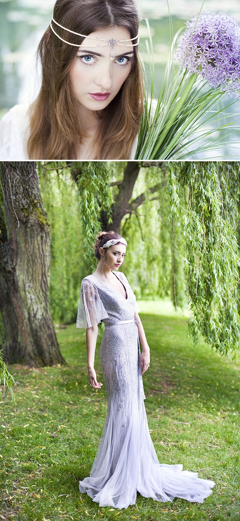 Inspiration Shoot Featuring Donna Crain Headpieces With A Bridal Make Up Product Recommendations From Adele Rosie Make Up Artist Images By Cecelina Photography 0005 Heavenly Headpieces.