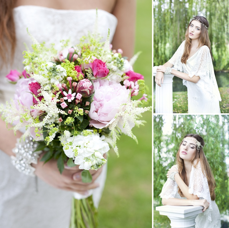 Inspiration Shoot Featuring Donna Crain Headpieces With A Bridal Make Up Product Recommendations From Adele Rosie Make Up Artist Images By Cecelina Photography 0006 Heavenly Headpieces.