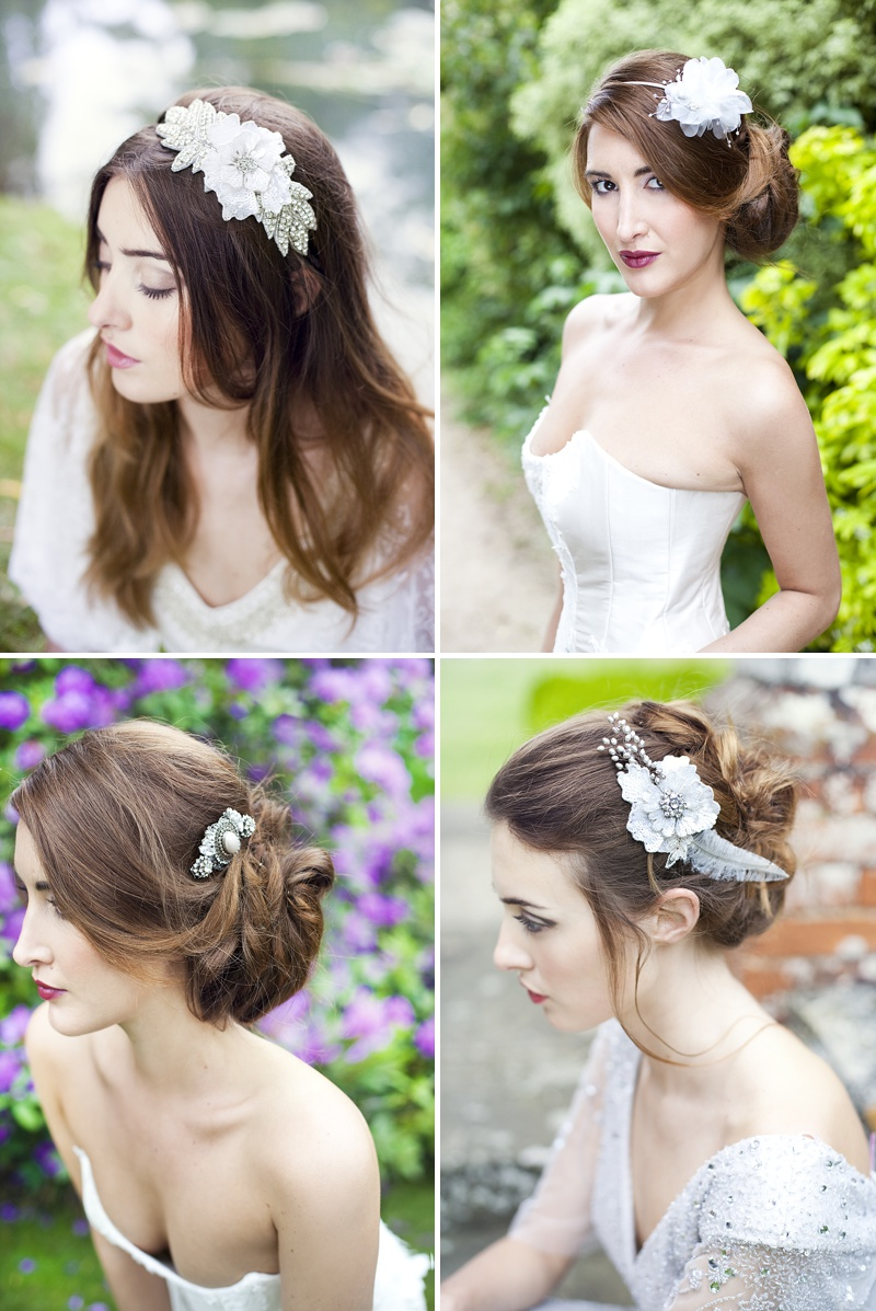 Inspiration Shoot Featuring Donna Crain Headpieces With A Bridal Make Up Product Recommendations From Adele Rosie Make Up Artist Images By Cecelina Photography 0008 Heavenly Headpieces.