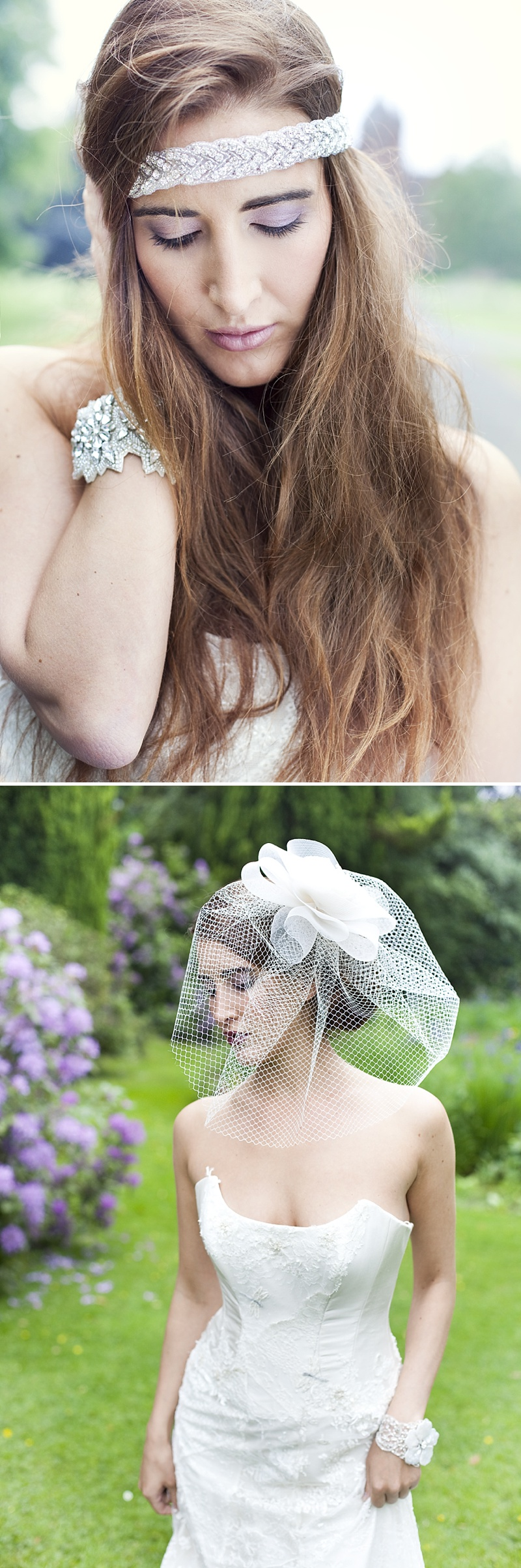 Inspiration Shoot Featuring Donna Crain Headpieces With A Bridal Make Up Product Recommendations From Adele Rosie Make Up Artist Images By Cecelina Photography 0011 Heavenly Headpieces.