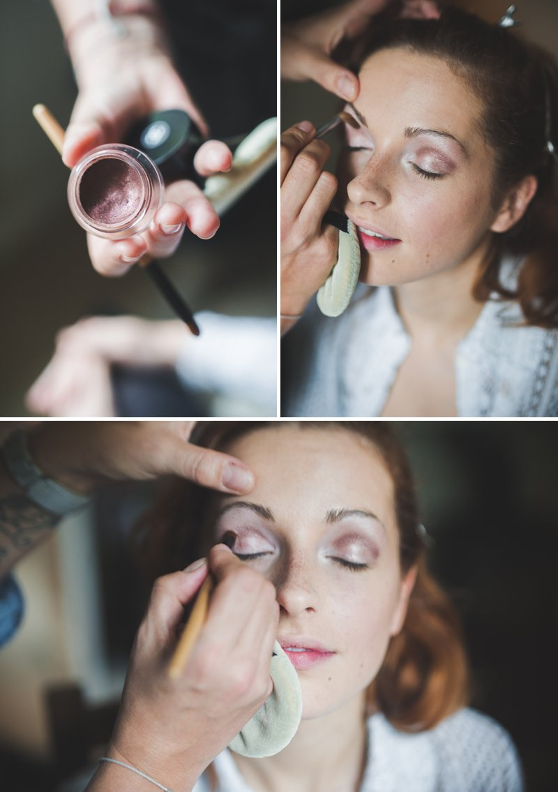 A Bridal Beauty Tutorial Showing Brides How To Create The Perfect Berry Lip and Metallic Eye For Their Wedding Day._0009