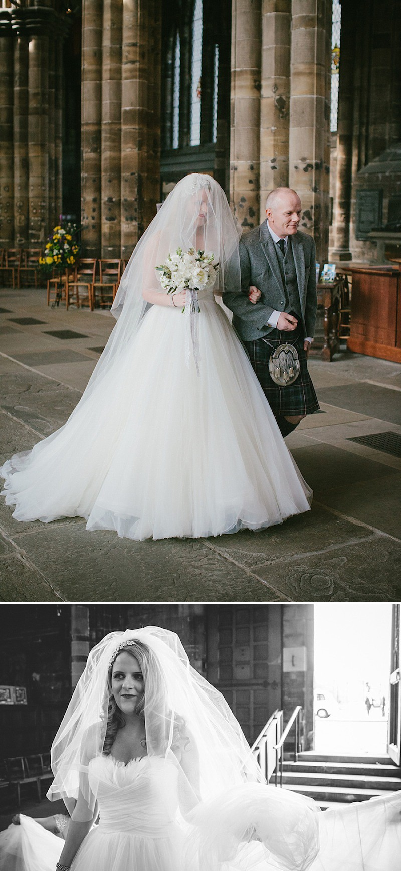 A Contemporary Scottish Wedding At Glasgow Cathedral With