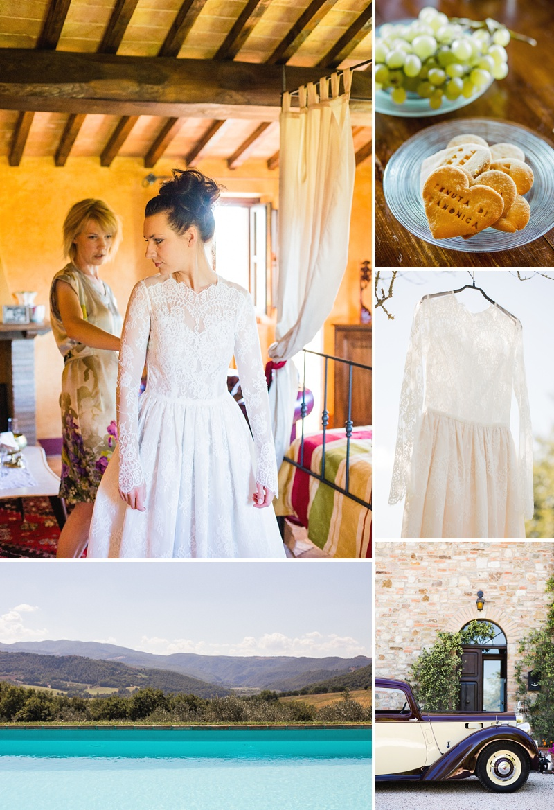 A Italian Destination Wedding In Tuscany with a Katya Katya Shehurina dress. 0001 A Tuscan Treasure