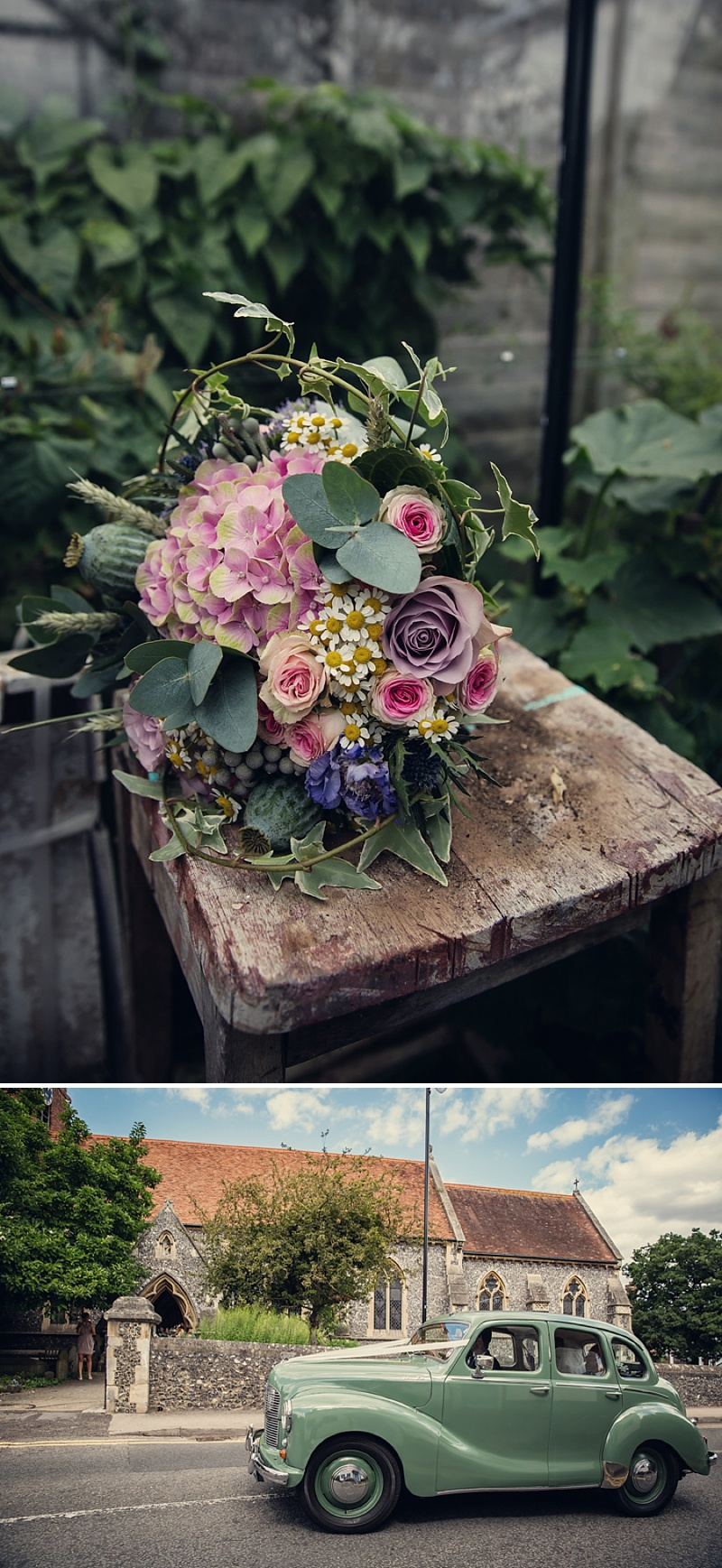 A Rustic Farm Wedding In Berkshire With Bride In Kelly By Stephanie Allin And Bridemaids In Mint Green With A Chocolate Wedding Cake From M&S Images From Assassynation_0003