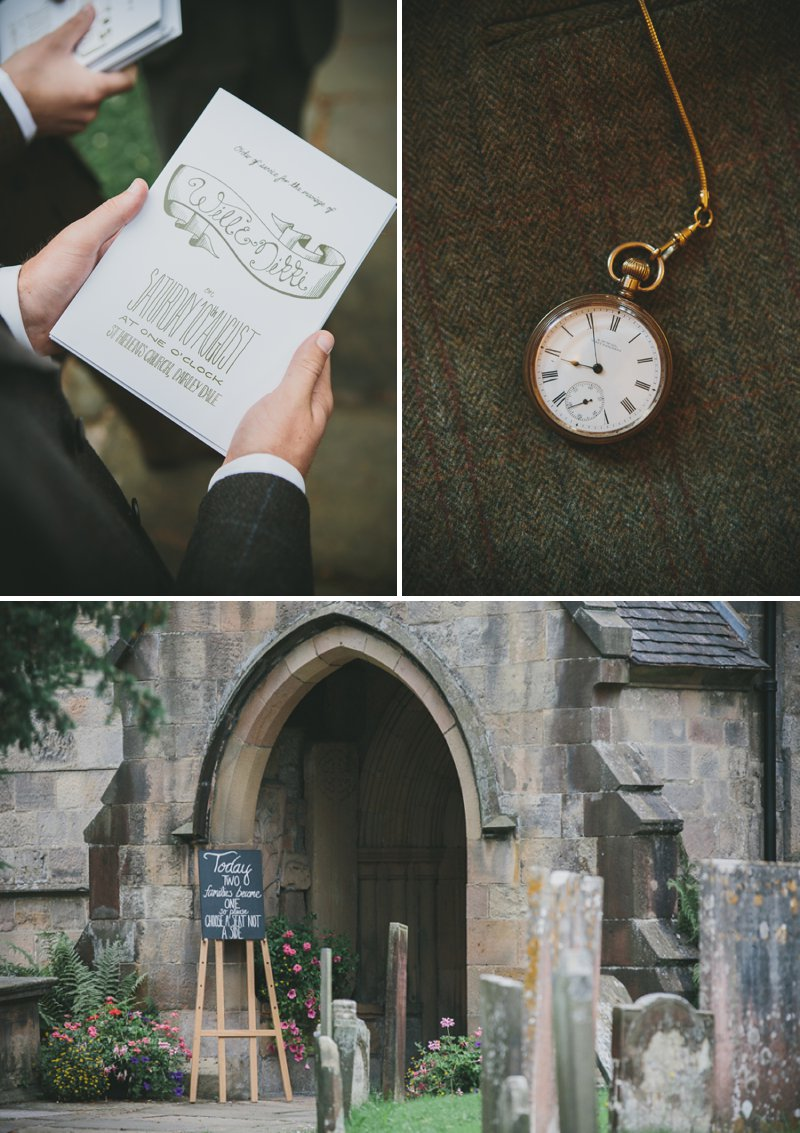 A Rustic Garden Wedding With A Ronald Joyce Lace Dress And A Handpicked Bouquet With A Groom In Tweed Photographed By McKinley-Rodgers_0003