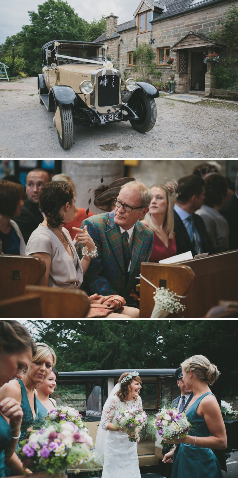 A Rustic Garden Wedding With A Ronald Joyce Lace Dress And A Handpicked Bouquet With A Groom In Tweed Photographed By McKinley-Rodgers_0005