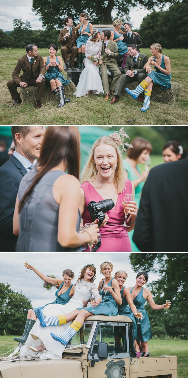 A Rustic Garden Wedding With A Ronald Joyce Lace Dress And A Handpicked Bouquet With A Groom In Tweed Photographed By McKinley-Rodgers_0012