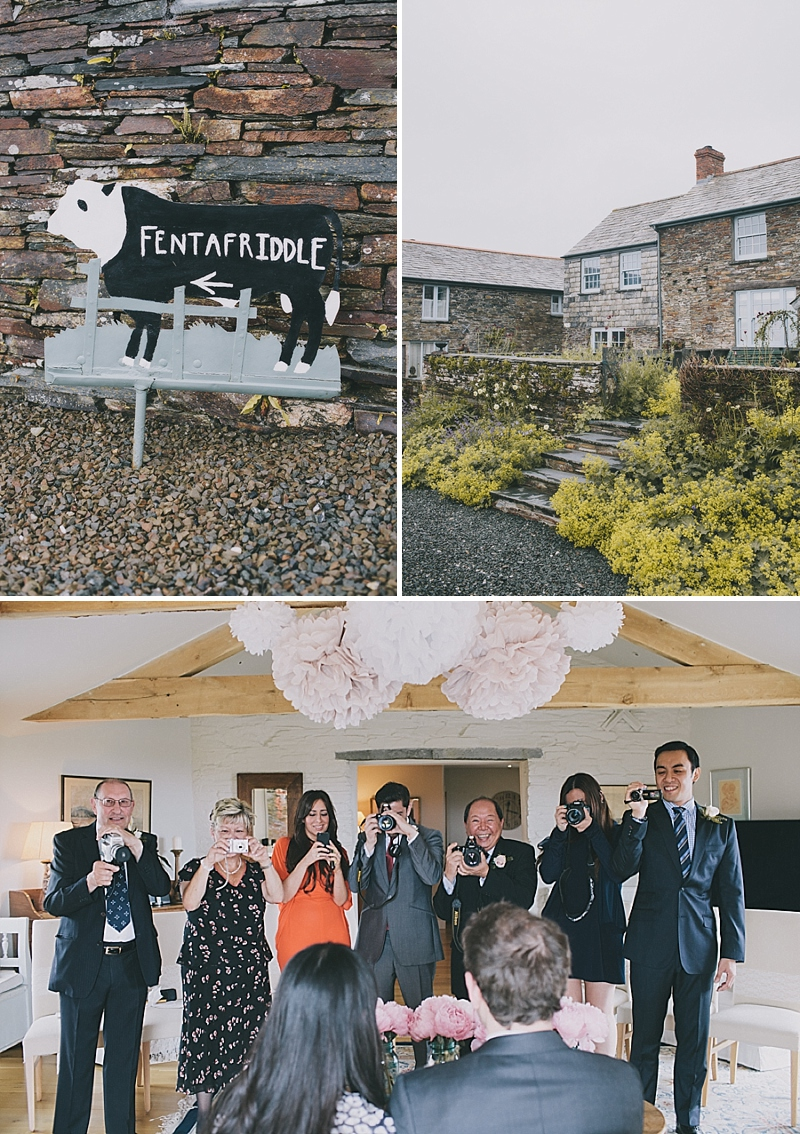 A stylish cornwall sornish wedding with a designer wedding dress by 3.1 Philip Lim 0429 High Tide.