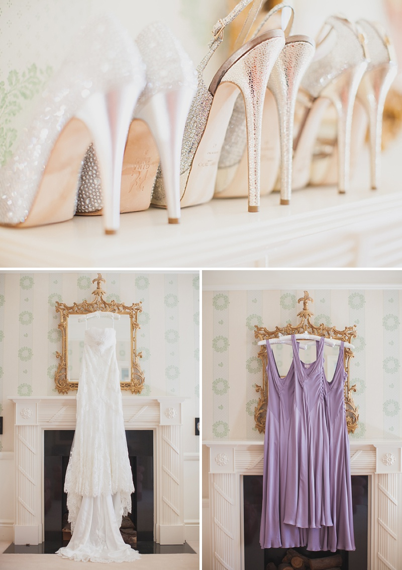An Elegant Wedding In Dorset With Lilac Accents Bride In Dietrich By Pronovias With Vita By Jimmy Choo Sandals And Bridesmaids In Silver And Lilac Ghost Dresses Images By Hayley Savage_0001