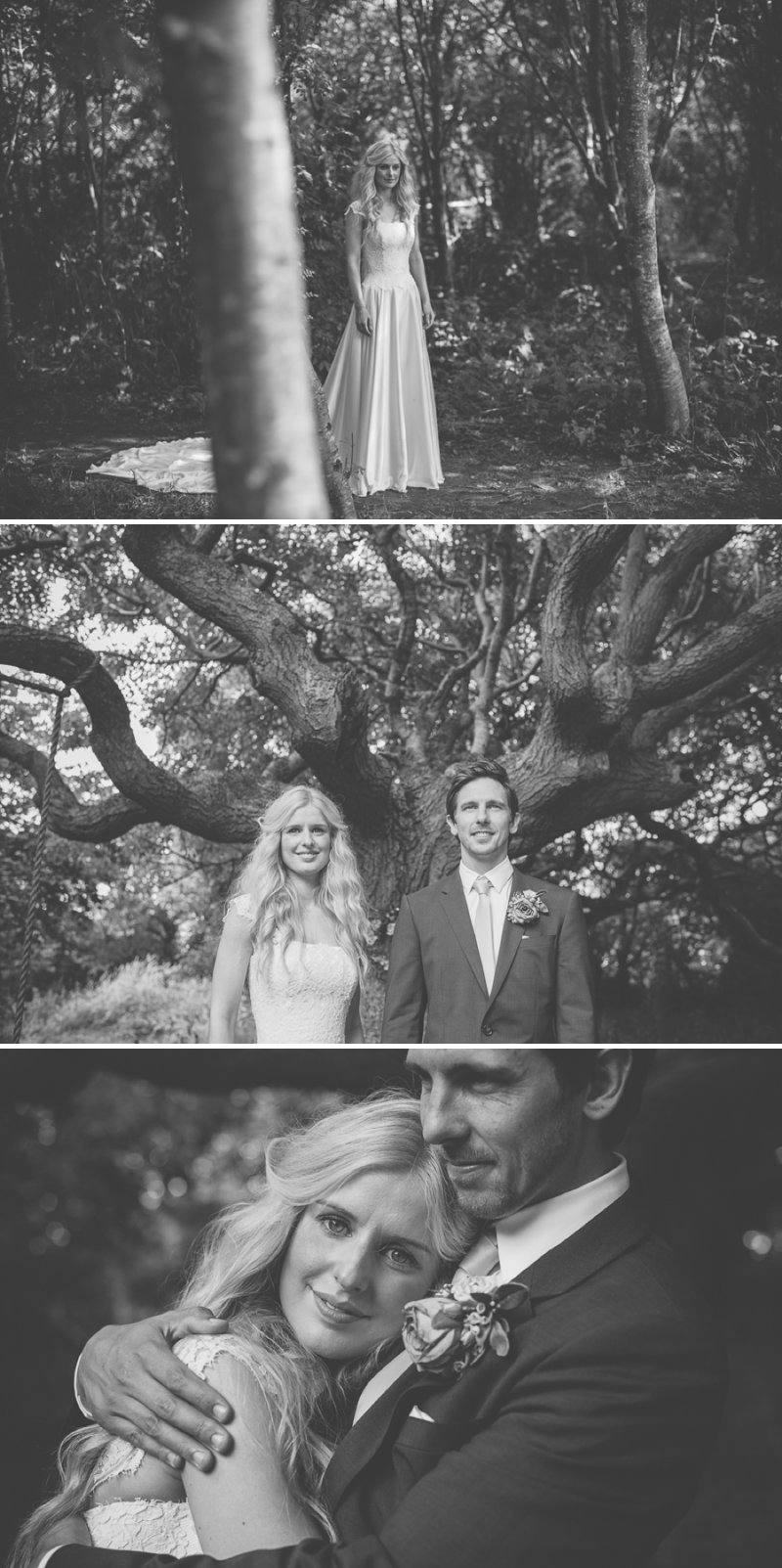 An Ethereal Summer Woodland Wedding At Hilton Court Gardens In Pembrokeshire Wales With A Silk Stephanie Allin Dress And An Amnesia Rose Bouquet Photographed By O&C Photography._0012