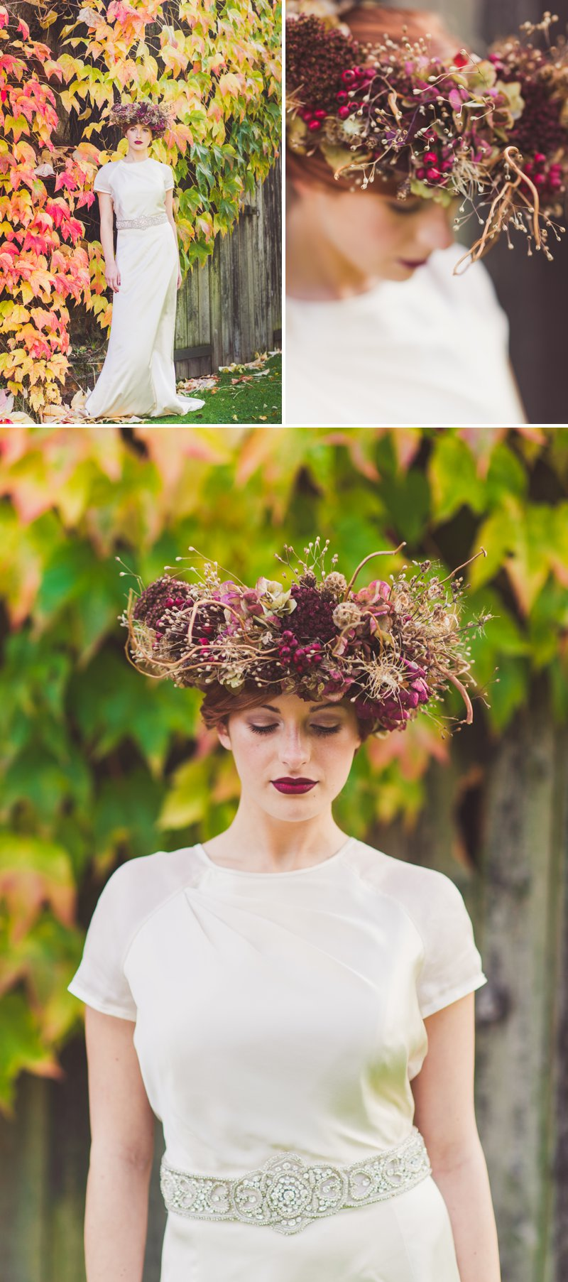 Autumn Fall Inspired Wedding Decor and Fashion Editorial by Rock My Wedding With Florals By Mrs Umbels, Make-up By Claire Salter Photographed By Rebekah J Murray._0001