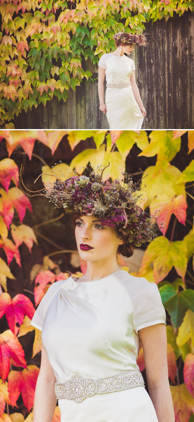 Autumn Fall Inspired Wedding Decor and Fashion Editorial by Rock My Wedding With Florals By Mrs Umbels, Make-up By Claire Salter Photographed By Rebekah J Murray._0002