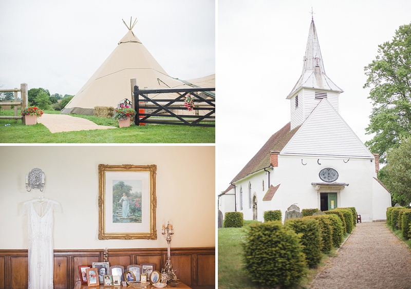 Coral, Grey And Ivory Themed Tipi Wedding In Buckinghamshire With Bride In Eden By Jenny Packham And Acacia II Headpiece With Grey Ghost Bridesmaids Gowns And Groom In Bespoke Gieves And Hawkes Suit Images By Sarah Gawler_0001