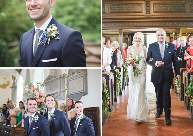 Coral, Grey And Ivory Themed Tipi Wedding In Buckinghamshire With Bride In Eden By Jenny Packham And Acacia II Headpiece With Grey Ghost Bridesmaids Gowns And Groom In Bespoke Gieves And Hawkes Suit Images By Sarah Gawler_0006