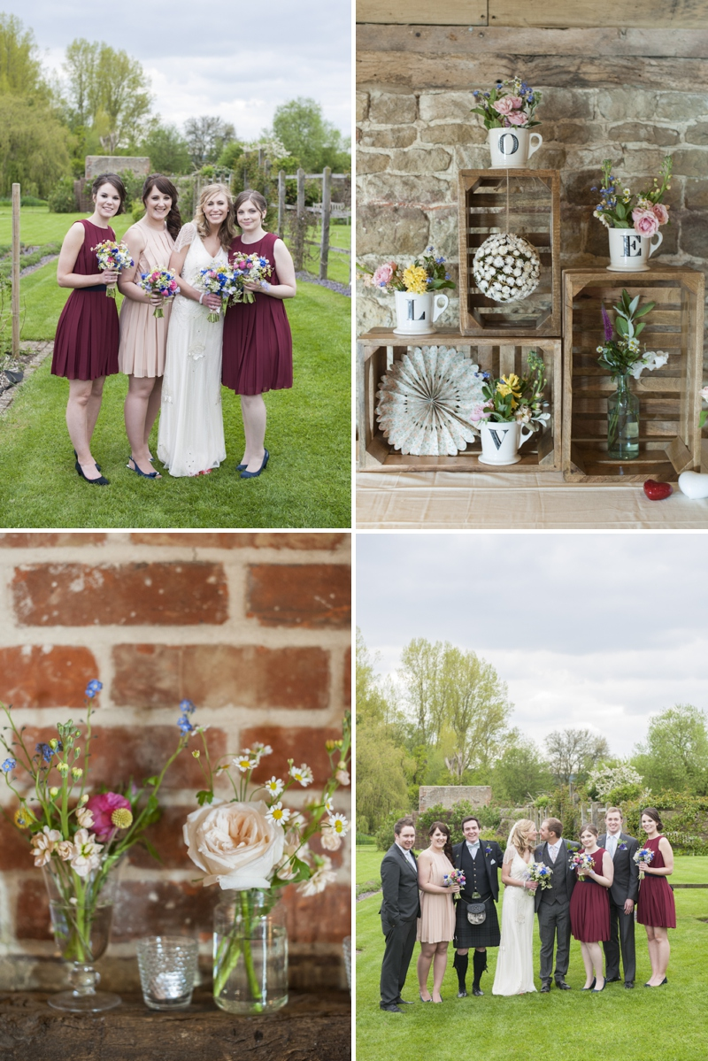 Eden by Jenny Packham in Ivory for a romantic rustic wedding at Grittenham Barn West Sussex_0379