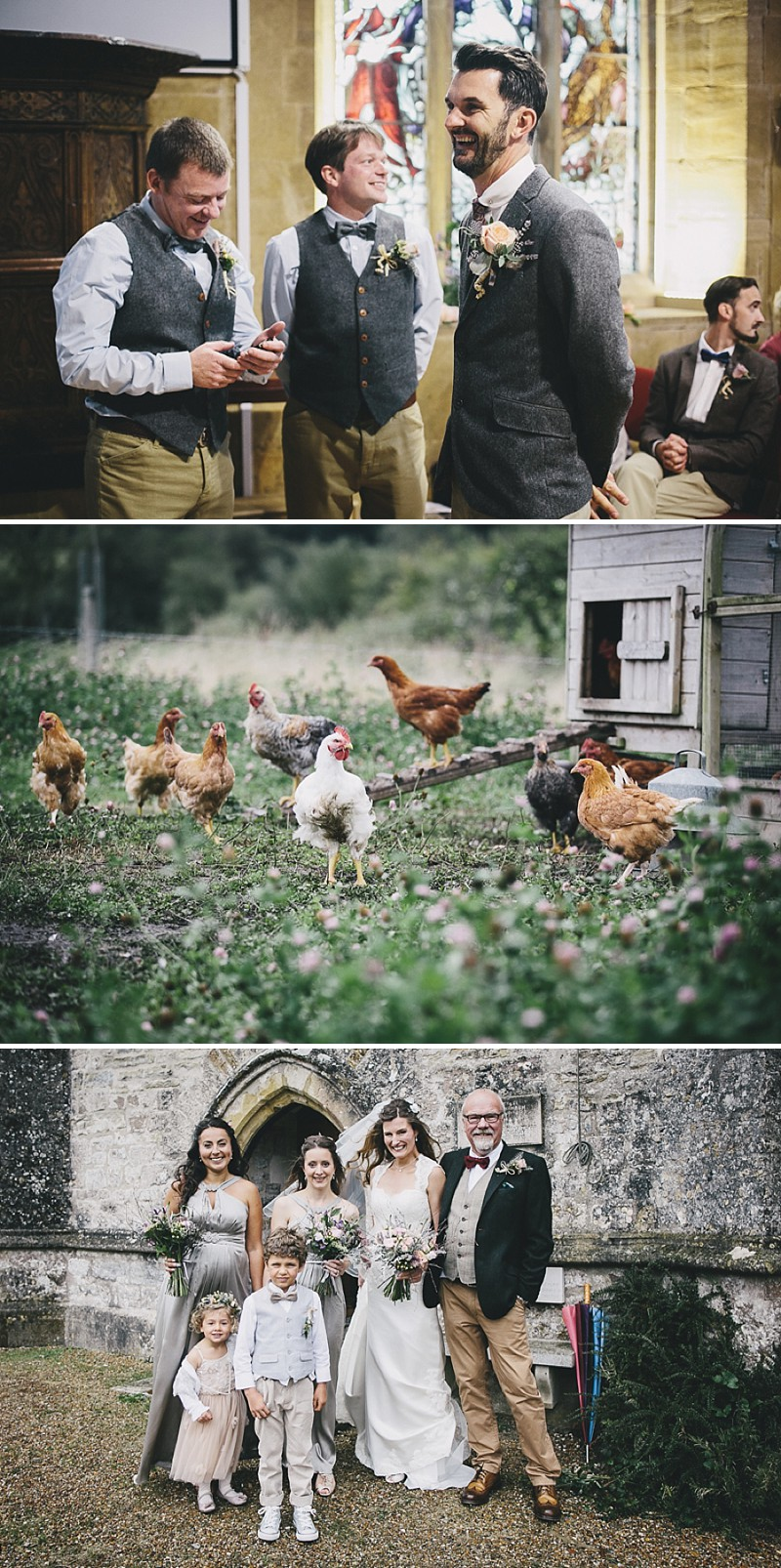 A rustic wedding at River Cottage in Devon with hand made DIY favours and grey silver bridesmaid dresses from Monsoon_0003