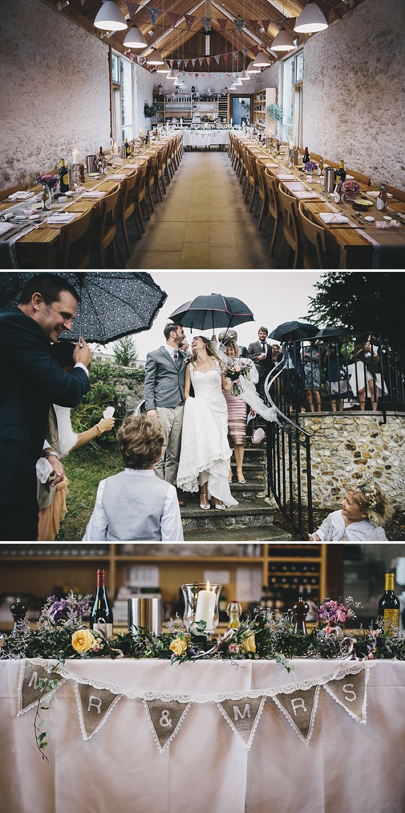 A rustic wedding at River Cottage in Devon with hand made DIY favours and grey silver bridesmaid dresses from Monsoon_0004