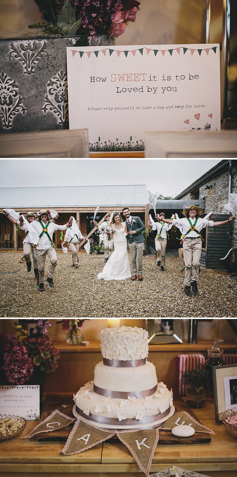 A rustic wedding at River Cottage in Devon with hand made DIY favours and grey silver bridesmaid dresses from Monsoon_0006