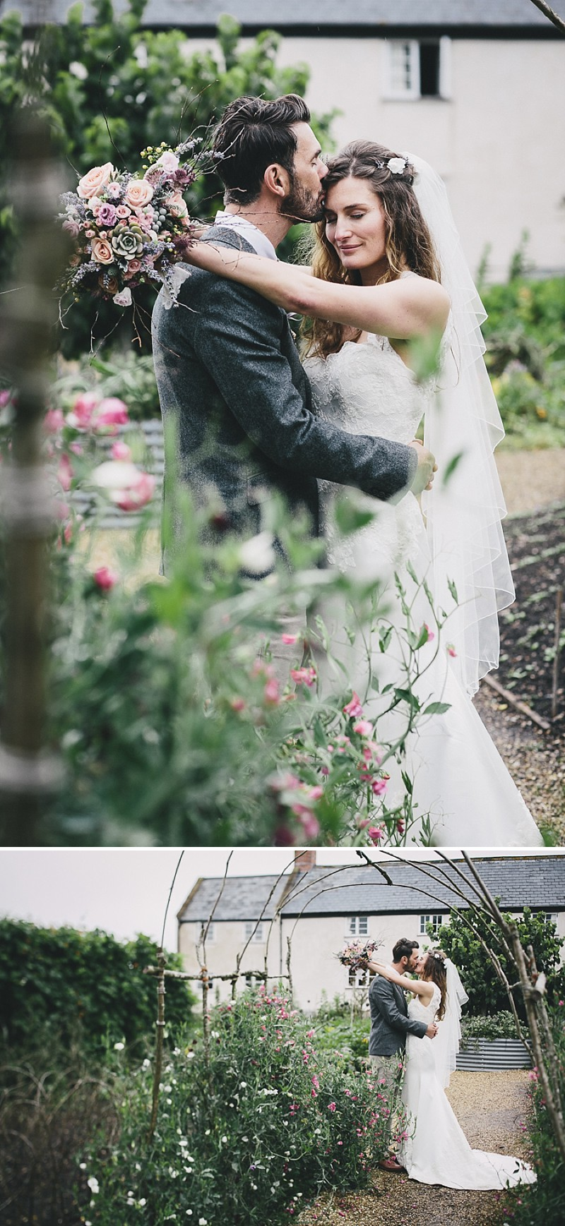 A rustic wedding at River Cottage in Devon with hand made DIY favours and grey silver bridesmaid dresses from Monsoon_0007