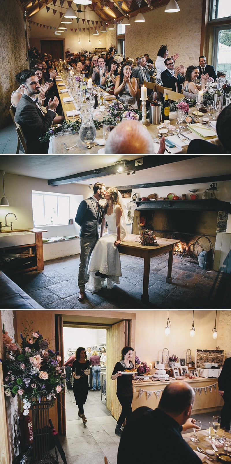 A rustic wedding at River Cottage in Devon with hand made DIY favours and grey silver bridesmaid dresses from Monsoon_0008
