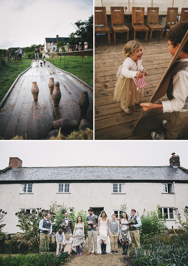 A rustic wedding at River Cottage in Devon with hand made DIY favours and grey silver bridesmaid dresses from Monsoon_0009