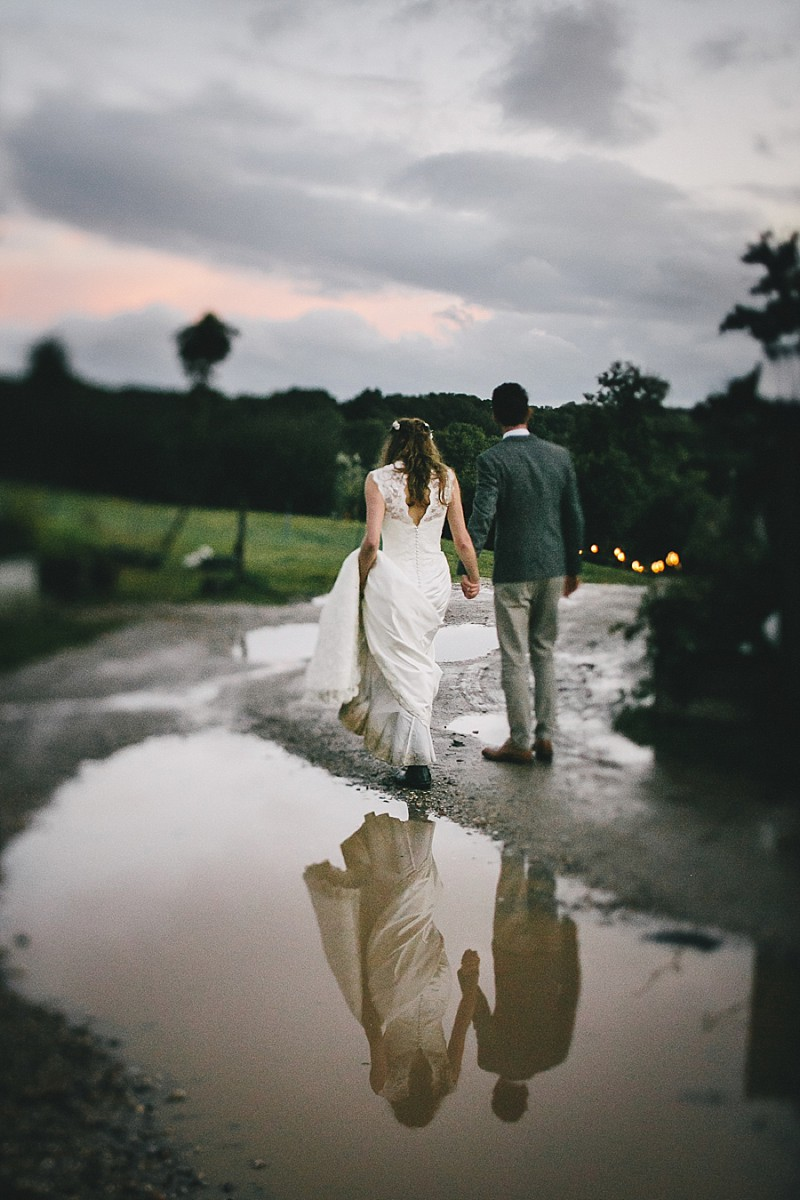 A rustic wedding at River Cottage in Devon with hand made DIY favours and grey silver bridesmaid dresses from Monsoon_0010