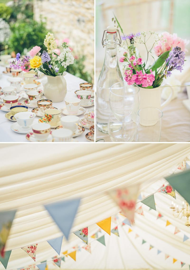 An English Country Garden Wedding In A Marquee In Somerset With ...