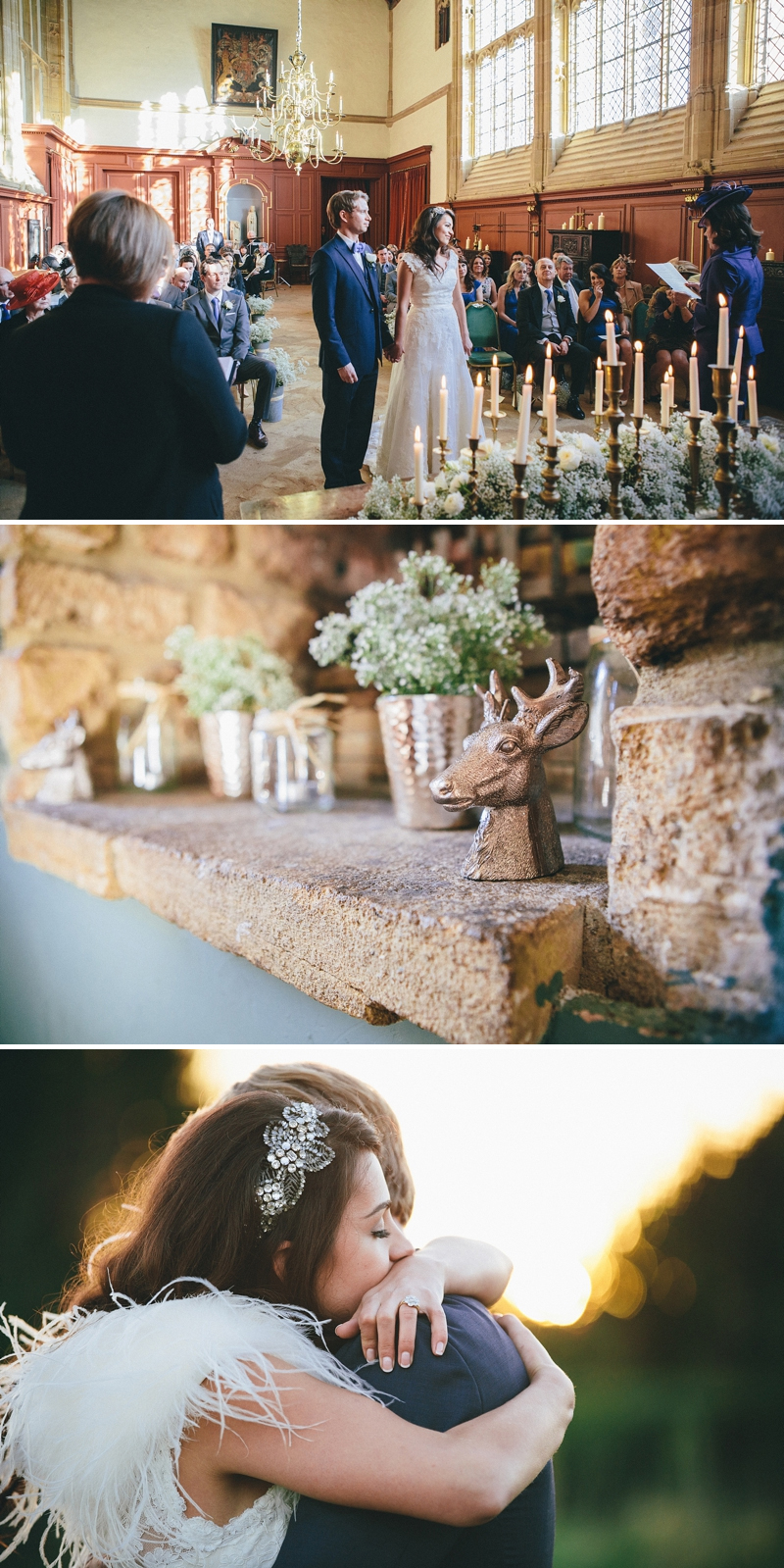 Bright December wedding at Forde Abbey