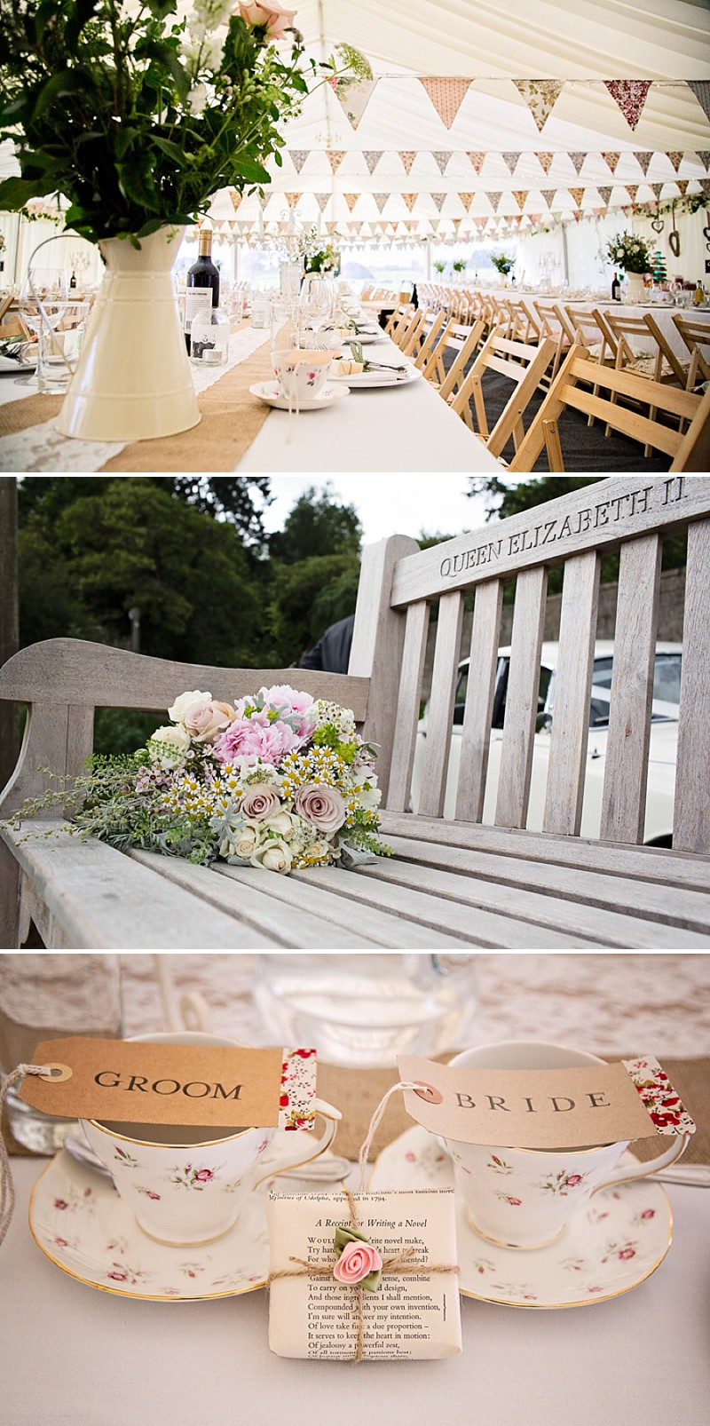 Rustic Marquee Wedding In The South West At Court Farm Near Bath With Bride In Charlie Brear Gown From The Decades Collection And Groom In Navy Reiss Suit rom Isabel Maria Of Allister Freeman Photography_0005