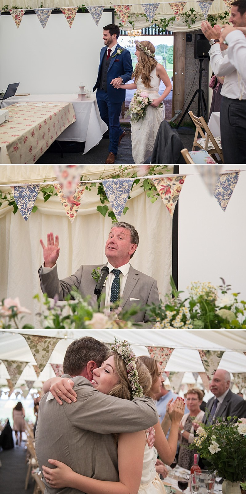 Rustic Marquee Wedding In The South West At Court Farm Near Bath With Bride In Charlie Brear Gown From The Decades Collection And Groom In Navy Reiss Suit rom Isabel Maria Of Allister Freeman Photography_0008
