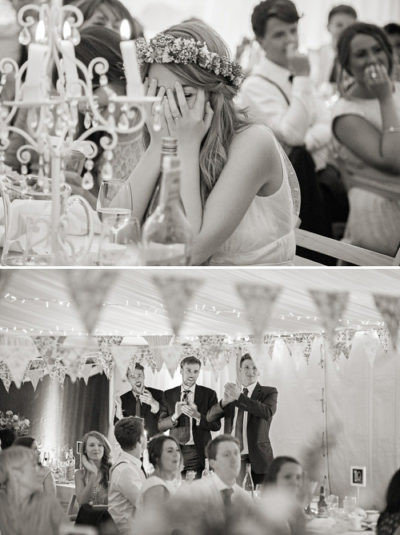Rustic Marquee Wedding In The South West At Court Farm Near Bath With Bride In Charlie Brear Gown From The Decades Collection And Groom In Navy Reiss Suit rom Isabel Maria Of Allister Freeman Photography_0011