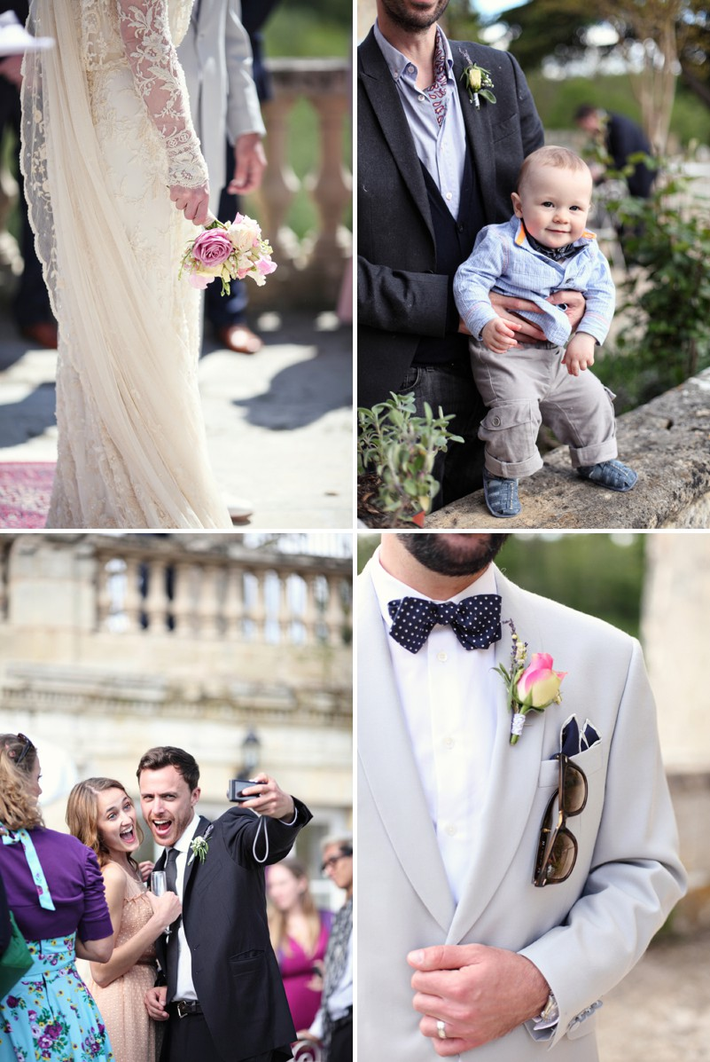 A Beautiful Destination Wedding In Bordeaux In France With A Couture Lace Wedding Dress And A Pink Rose And Lily Of The Valley Bouquet By Dasha Caffrey Photography._0007