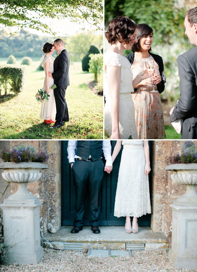 A Classically Beautiful Wedding At Higher Melcombe Manor With An Edwardian Wedding Dress And A Navy And Peach Colour Scheme With Photography By Helen Cawte._0009