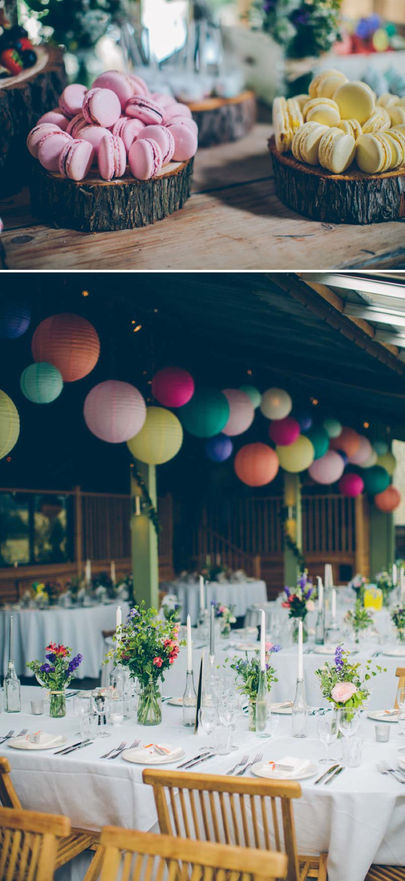 Colourful Contemporary Wedding At Cripps Stone Barn In The Cotswolds With Bride In Charlie Brear Gown And Gold Jimmy Choo Peeptoes And Groom In Bespoke Suit By Marc Wallace With Groomsmen In Bowties 6