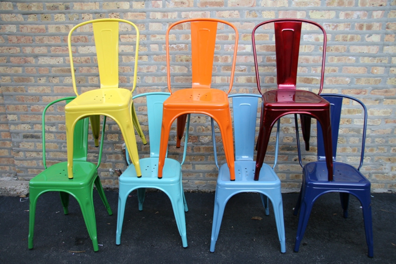 bistro cafe chairs at cult Furniture blue orange yellow pink red silver_0573