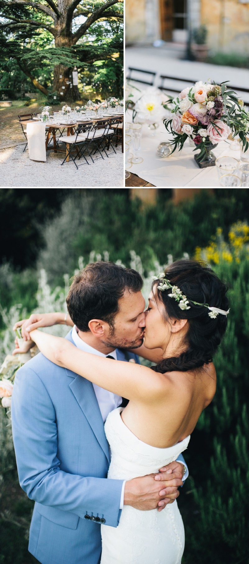 A Beautiful Italian Destination Wedding At Villa Di Ulignano With A Pronovias Dress And A Flower Wreath And A Rose Bouquet By Lisa Poggi Photography._0009