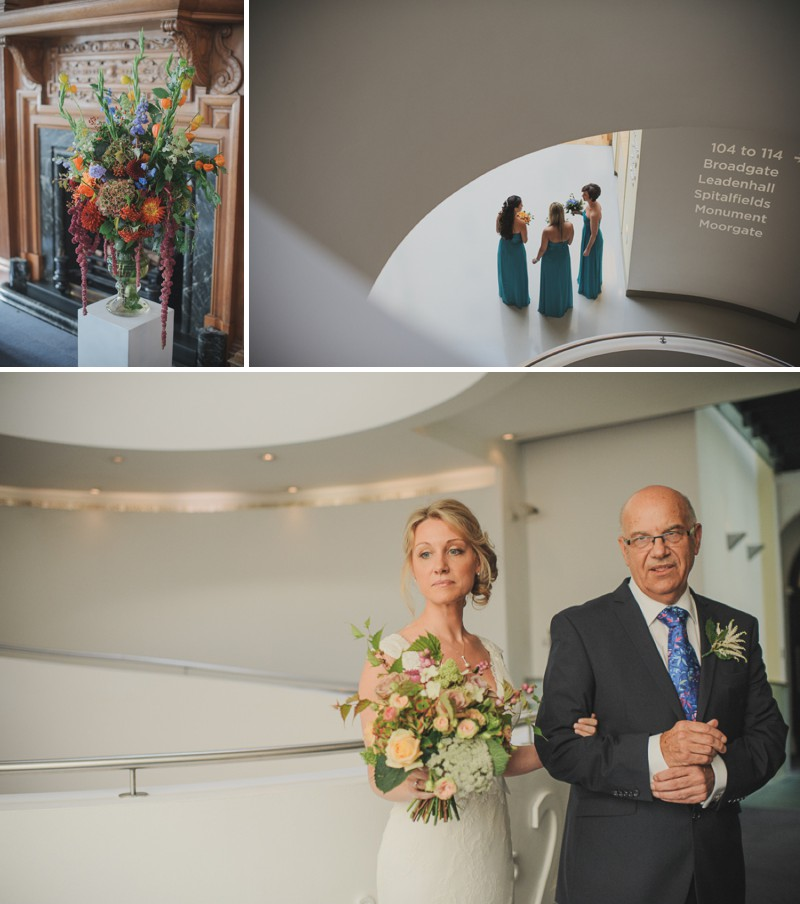 A Modern And Elegant London Wedding At Andaz Hotel With A Handpicked Bouquet And A Lusan Mandongus Dress By O&C Photography_0001
